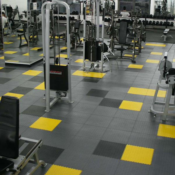 Gym weight room polypropylene flooring hongewin tiles