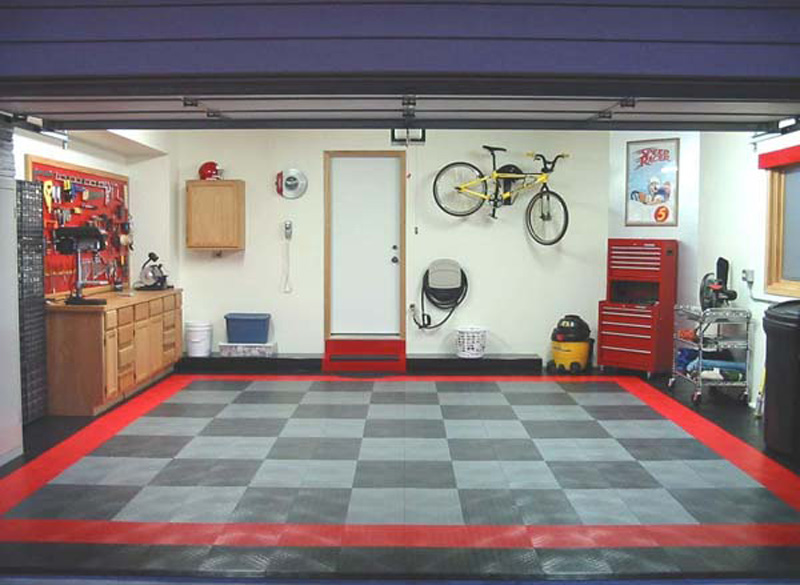Used garage floor tiles